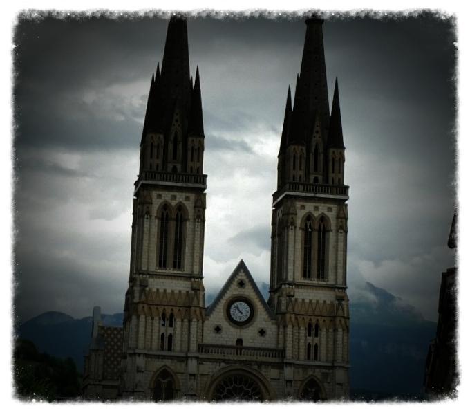 Église Saint Bruno à Voiron (Isère) construite au XIX° siècle ©Martine Crasez, 2015.06.23