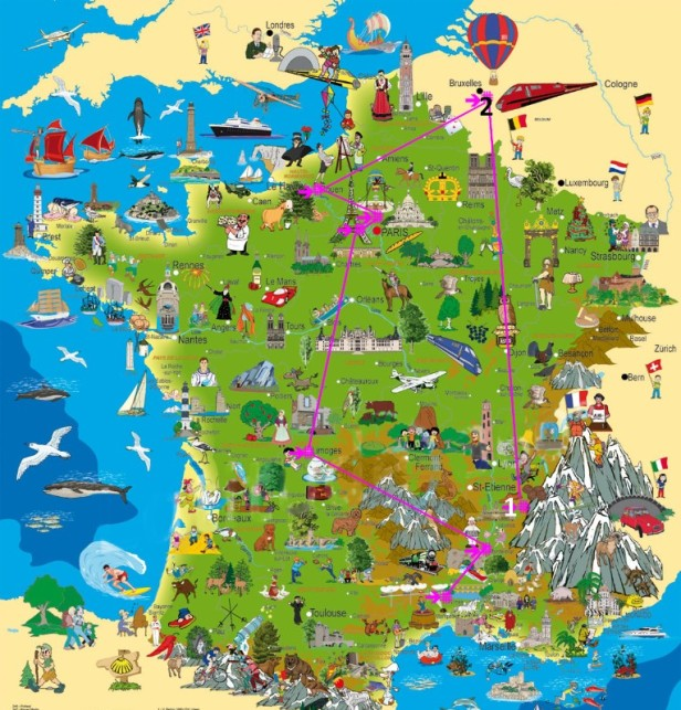 CARTE DE FRANCE 1ère étapeJPG