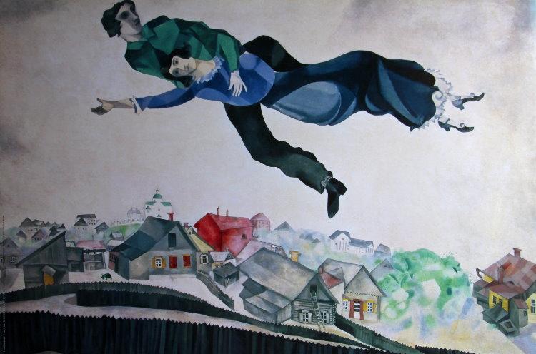 Marc Chagall, Au-dessus de la ville,1924