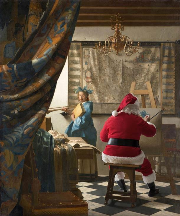 santa-claus-in-classical-painting-1