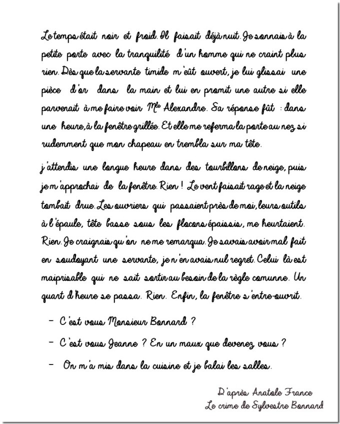 ANATOLE FRANCE TEXTE