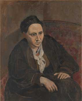 «Gertrude Stein» de Picasso, 1906. Pour ce portrait, l'artiste aurait fait poser son amie plus de quatre-vingts fois.