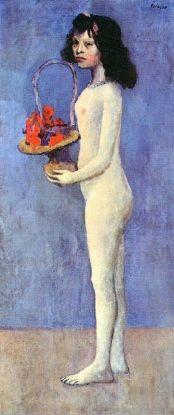 Jeune fille nue avec panier de fleurs, 1905
