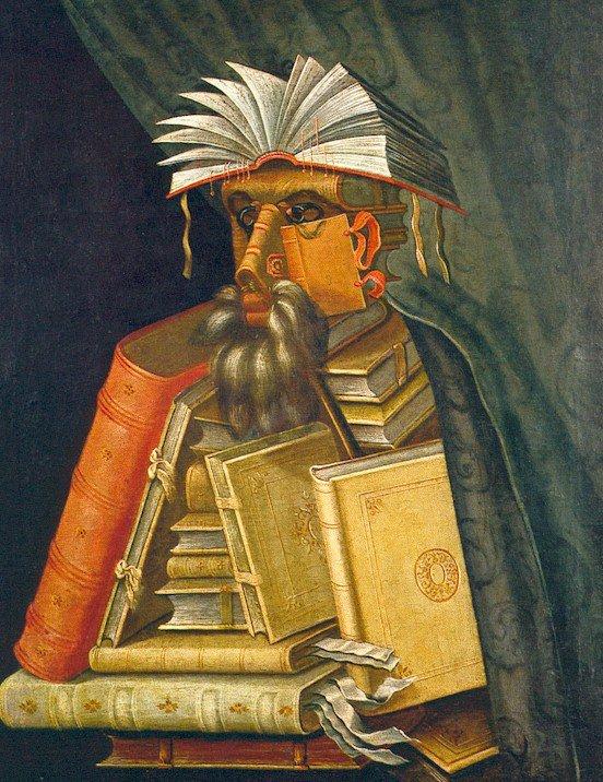 Giuseppe Arcimboldo Le Bibliothecaire Ecri Turbulente