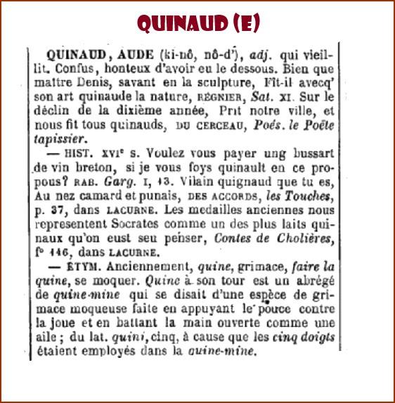 QUINAUD OBSOLÈTE