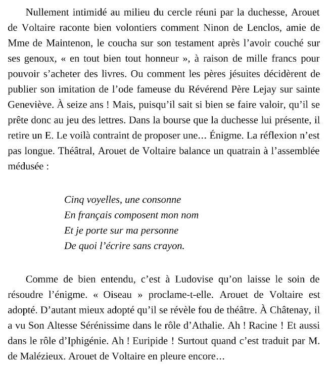 Énigme Voltaire