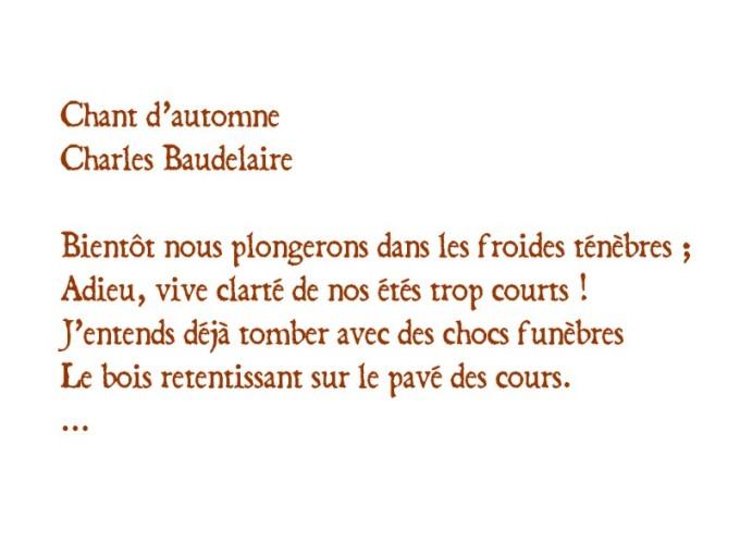 Chant d'automne Baudelaire