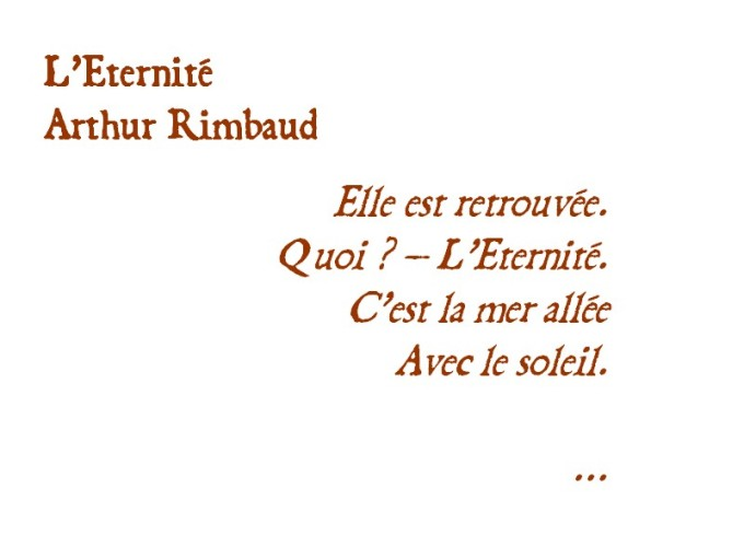 RIMBAUD L'ETERNITE
