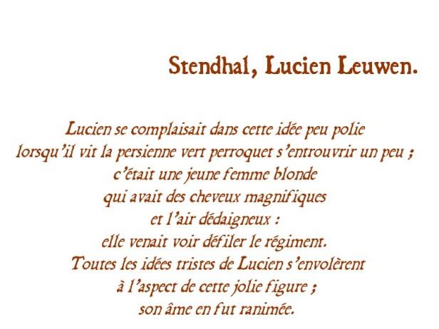 STENDHAL LUCIEN LEUWEN