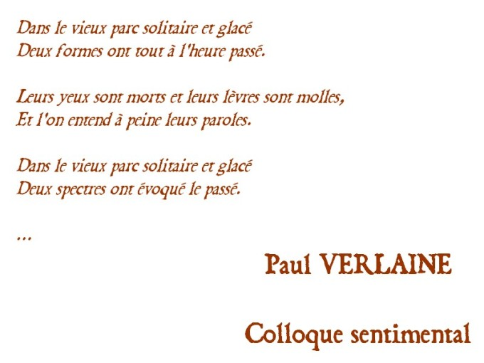 VERLAINE COLLOQUE SENTIMENTAL