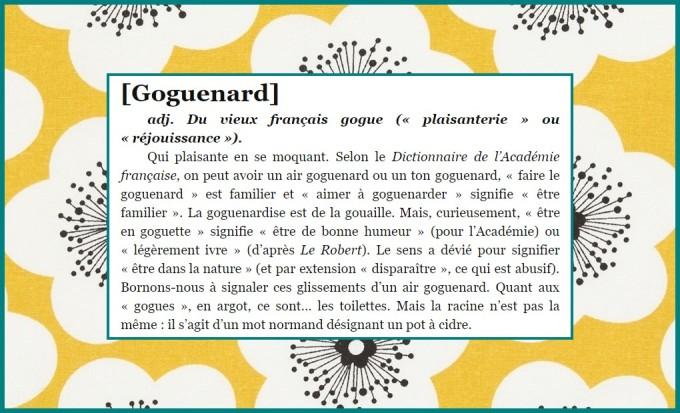 GOGUENARD ENCADRE