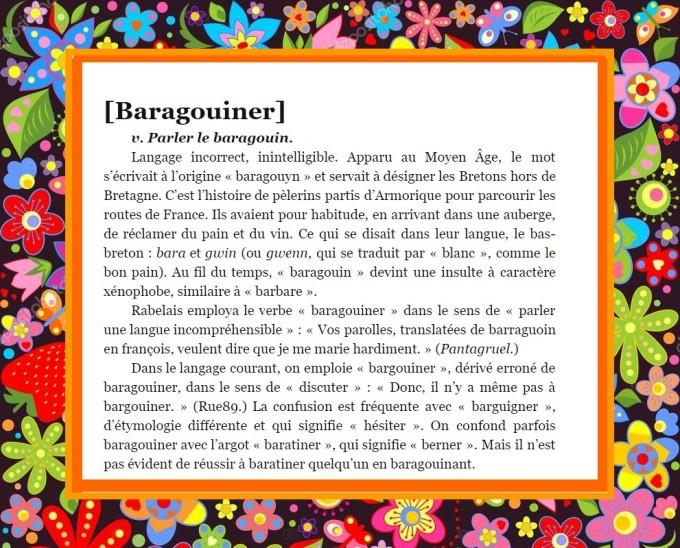 BARAGOUINER PAPIER