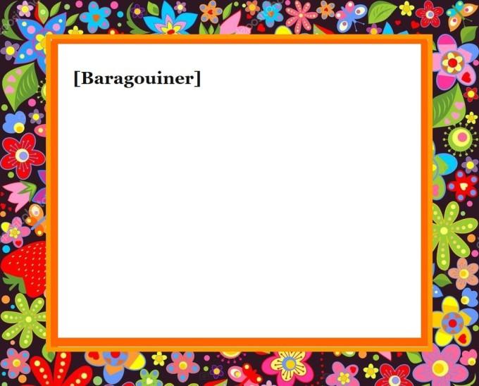 BARAGOUINER VIERGE PAPIER
