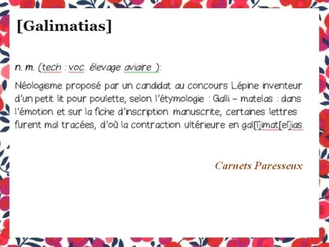 GALIMATIAS CARNETS 1