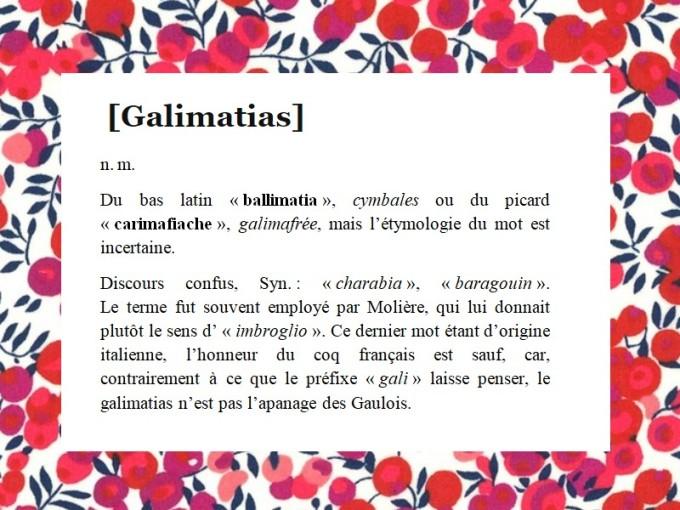 GALIMATIAS DÉF