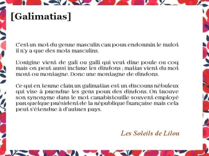 GALIMATIAS LILOU