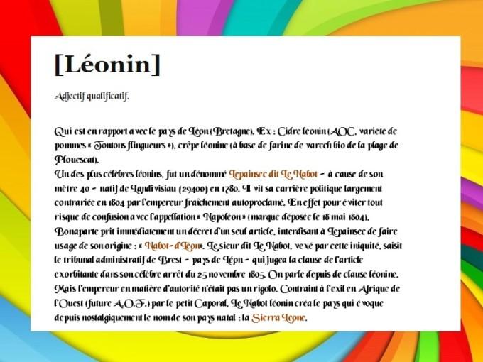 LEONIN PARTICIPATIONS ANTIBLUES